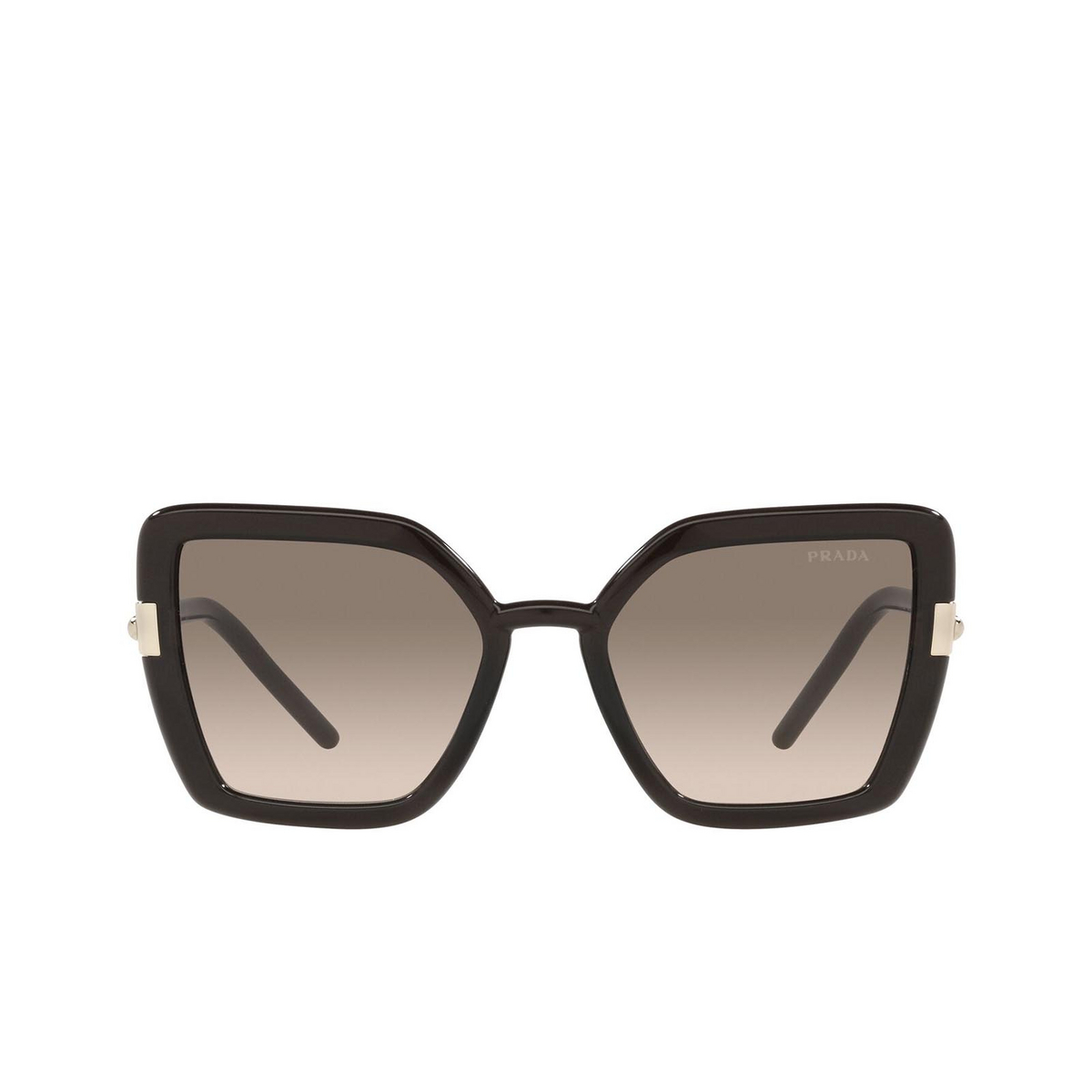 Prada® Butterfly Sunglasses: PR 09WS color Crystal Dark Brown 05M3D0 - front view.