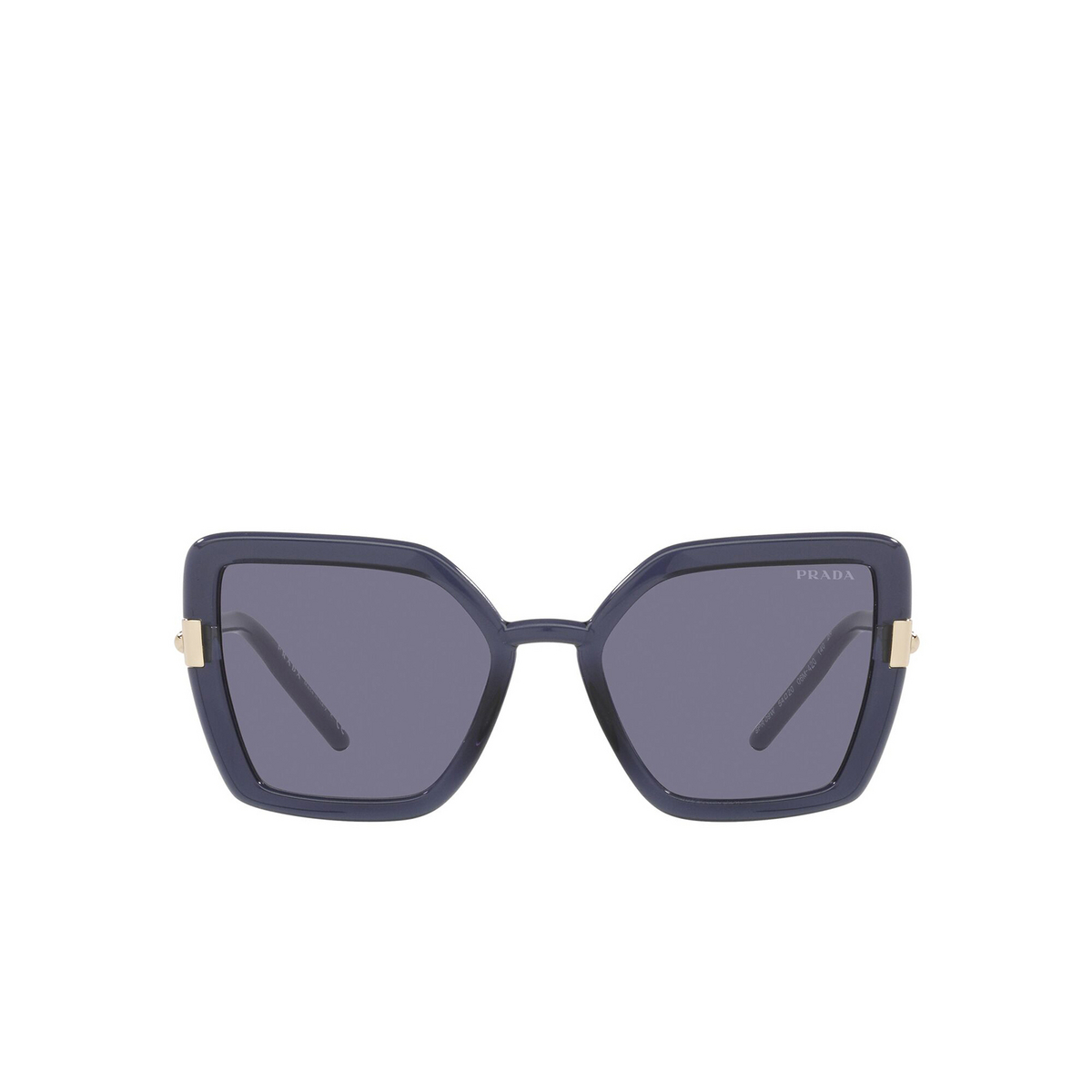 Prada® Butterfly Sunglasses: PR 09WS color Crystal Bluette 06M420 - front view.