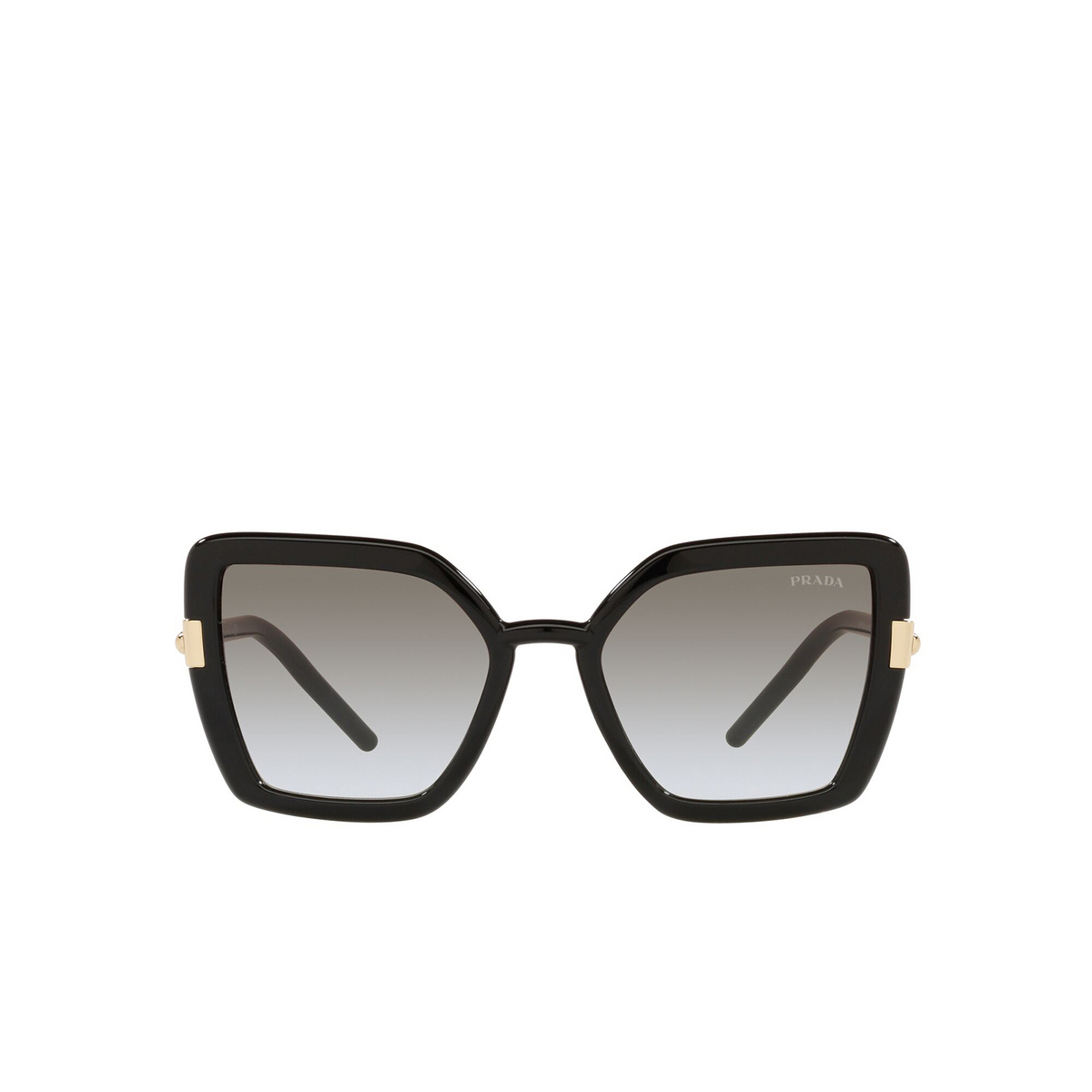 Prada® Butterfly Sunglasses: PR 09WS color Black 1AB0A7 - front view.