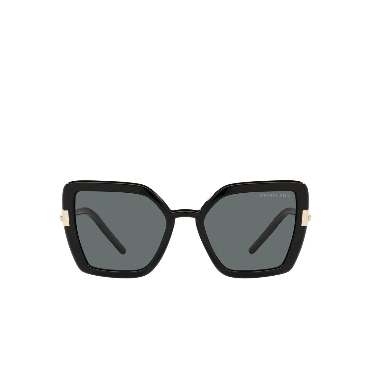 Prada® Butterfly Sunglasses: PR 09WS color Black 1AB5Z1 - front view.