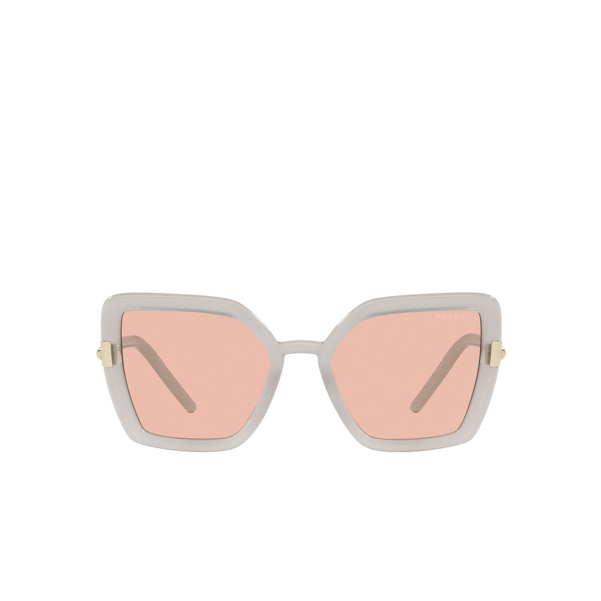 Prada® Butterfly Sunglasses: PR 09WS color Opal Grey TWH03F - front view.