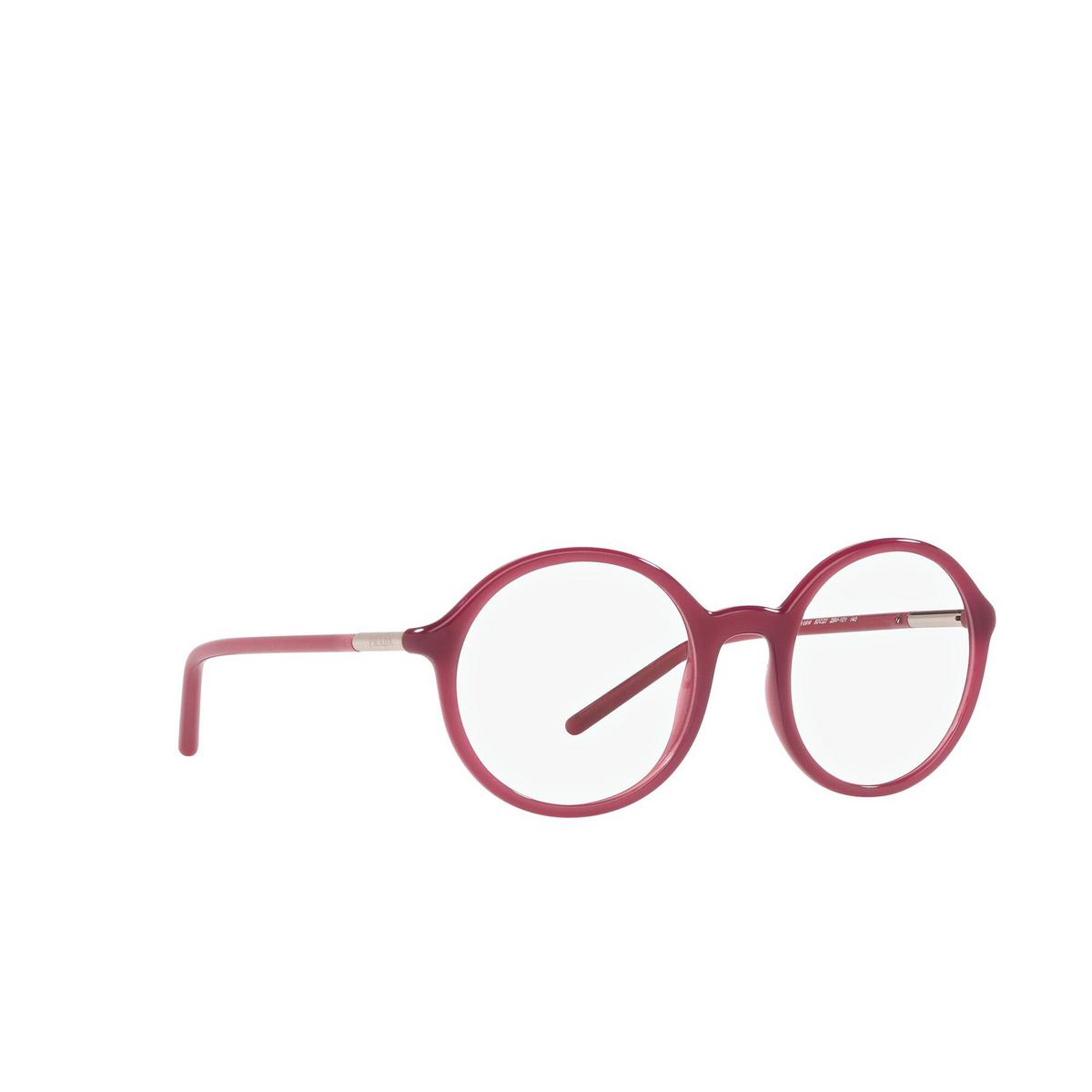 Prada® Round Eyeglasses: PR 09WV color Opal Bordeaux 2BM1O1 - three-quarters view.