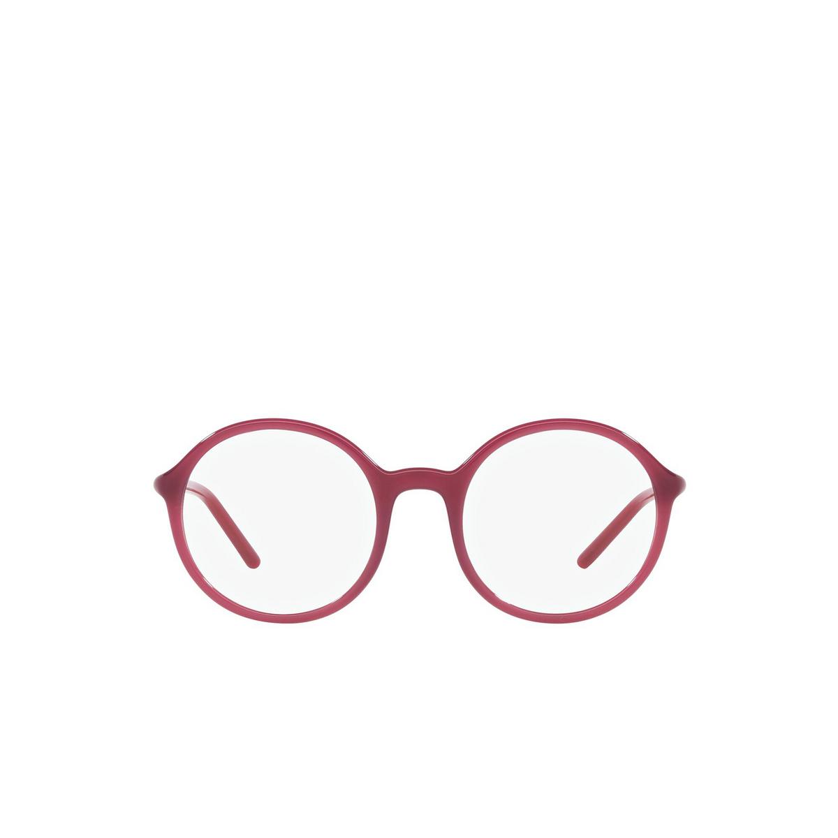 Prada® Round Eyeglasses: PR 09WV color Opal Bordeaux 2BM1O1 - front view.