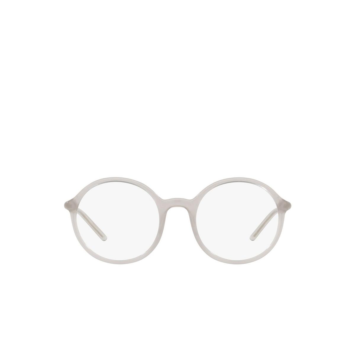 Prada® Round Eyeglasses: PR 09WV color Opal Grey TWH1O1 - front view.