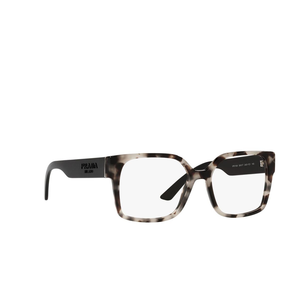 Prada® Square Eyeglasses: PR 10WV color Talc Tortoise UAO1O1 - three-quarters view.