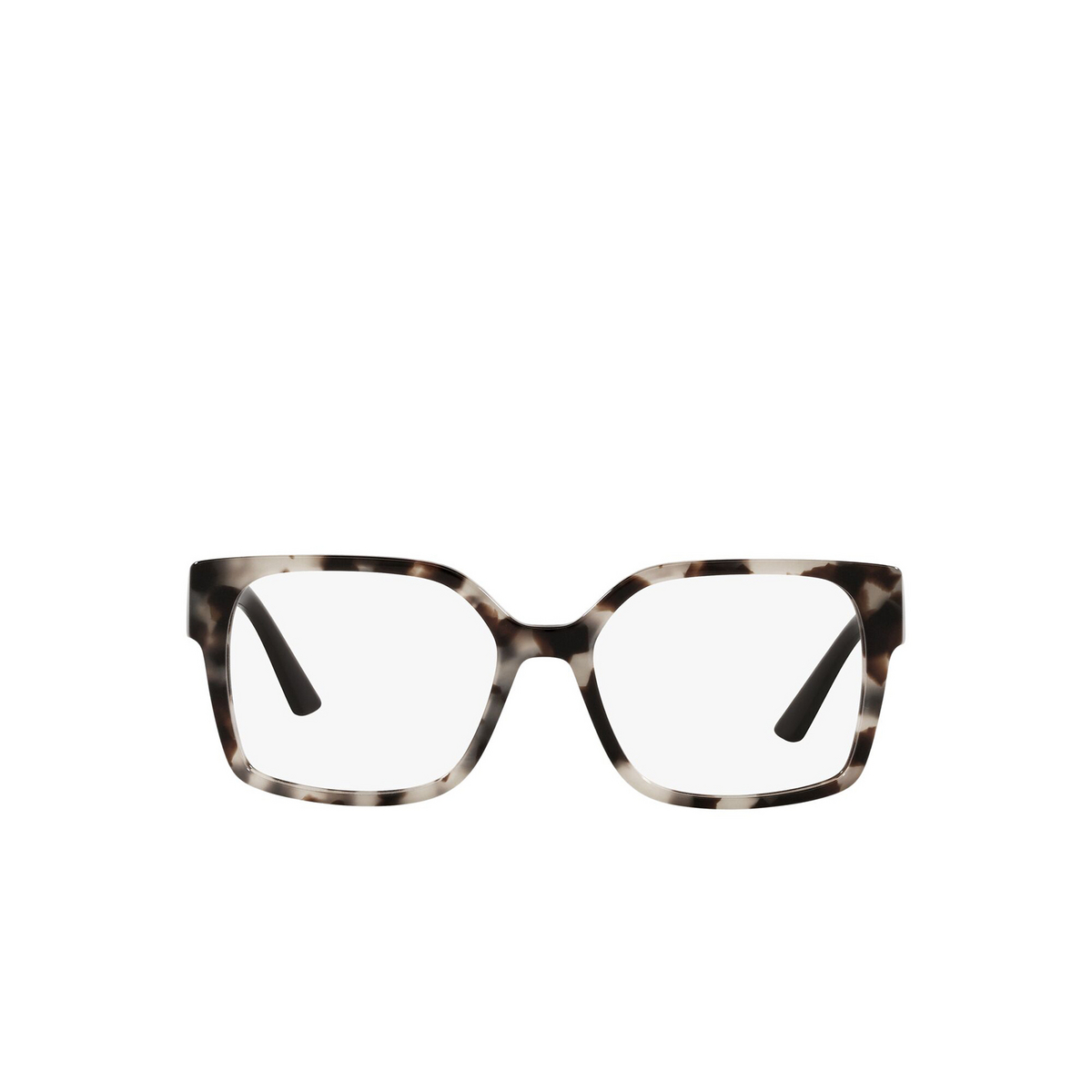 Prada® Square Eyeglasses: PR 10WV color Talc Tortoise UAO1O1 - front view.