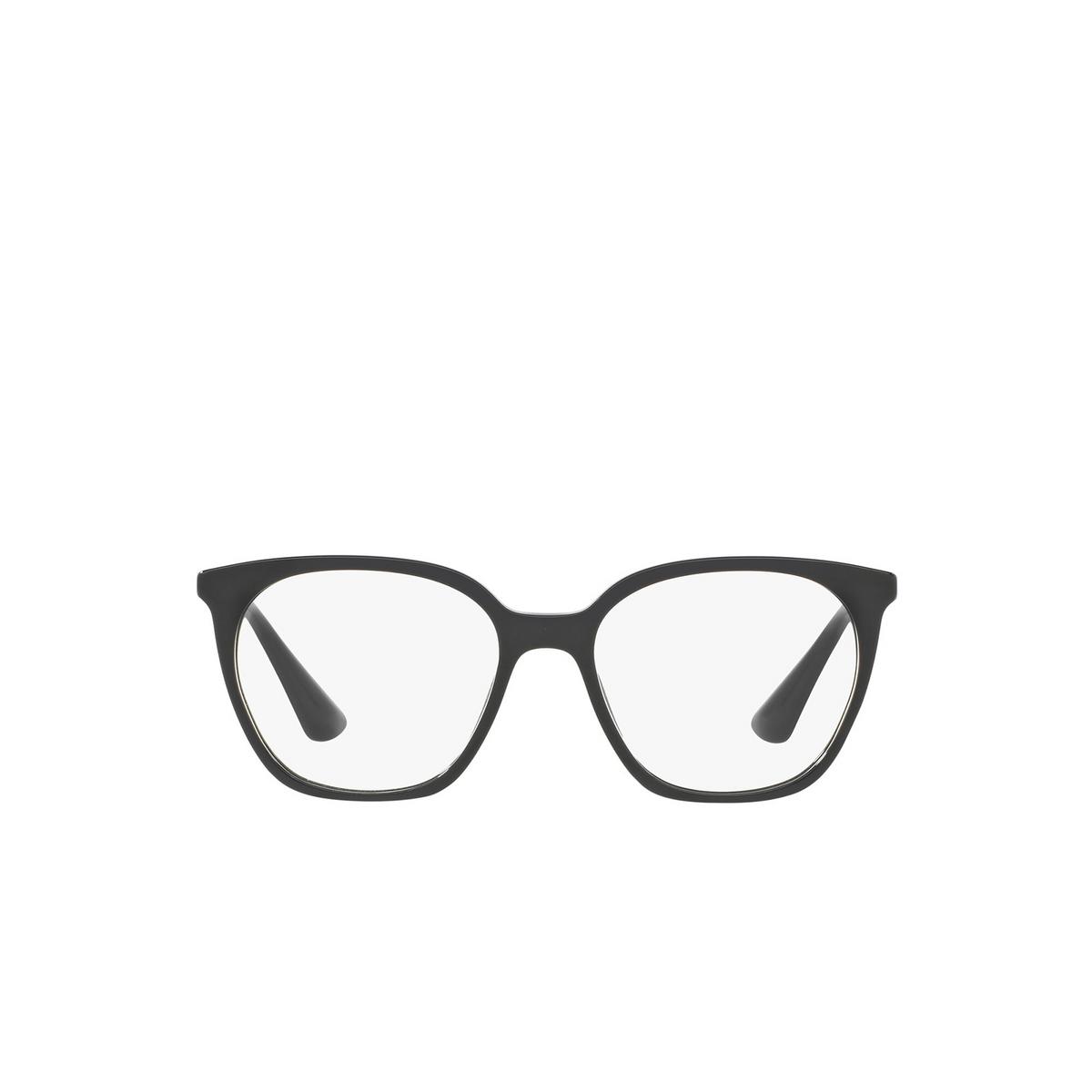 Prada® Square Eyeglasses: PR 11TV color Black 1AB1O1 - front view.