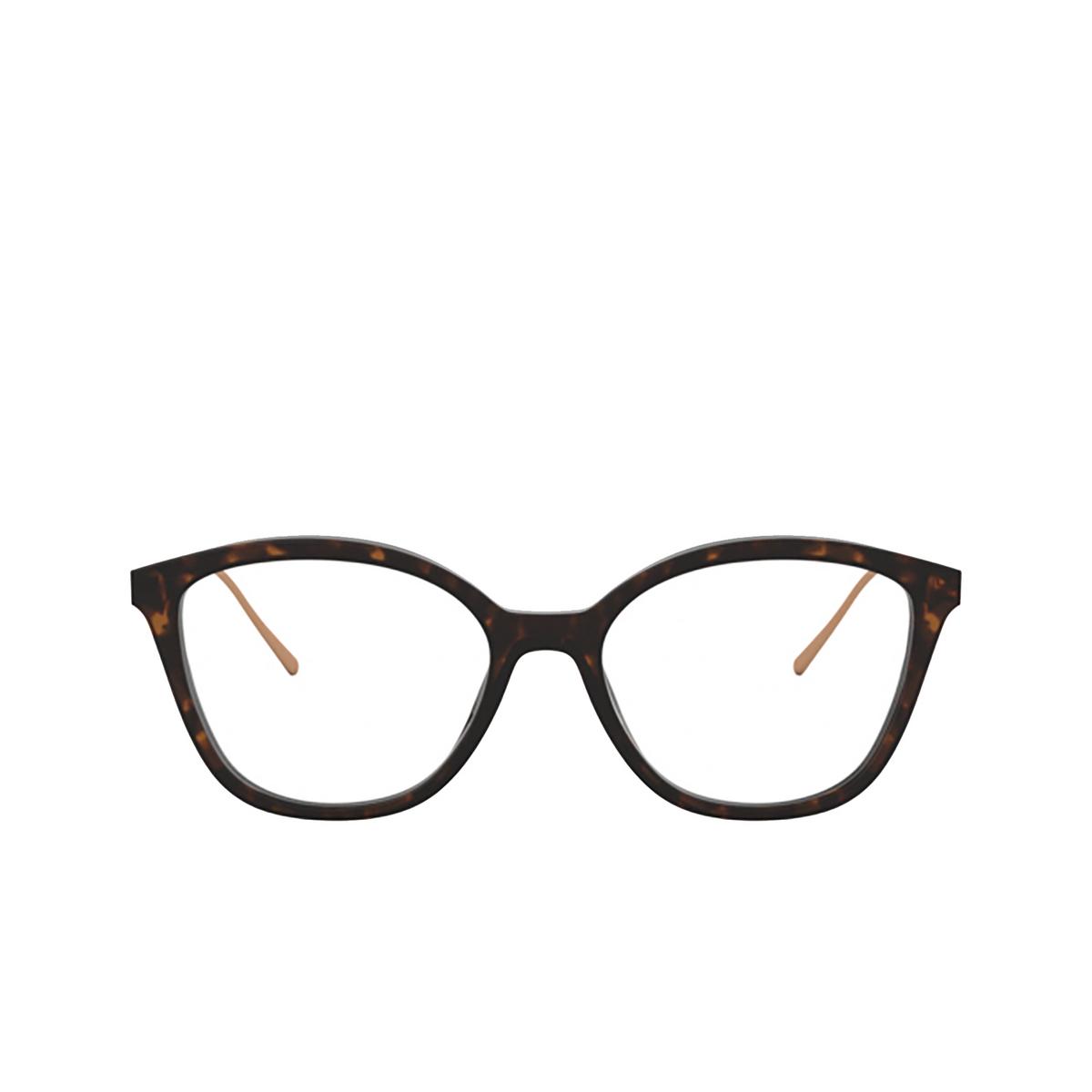 Prada® Square Eyeglasses: PR 11VV color Havana 2AU1O1 - front view.