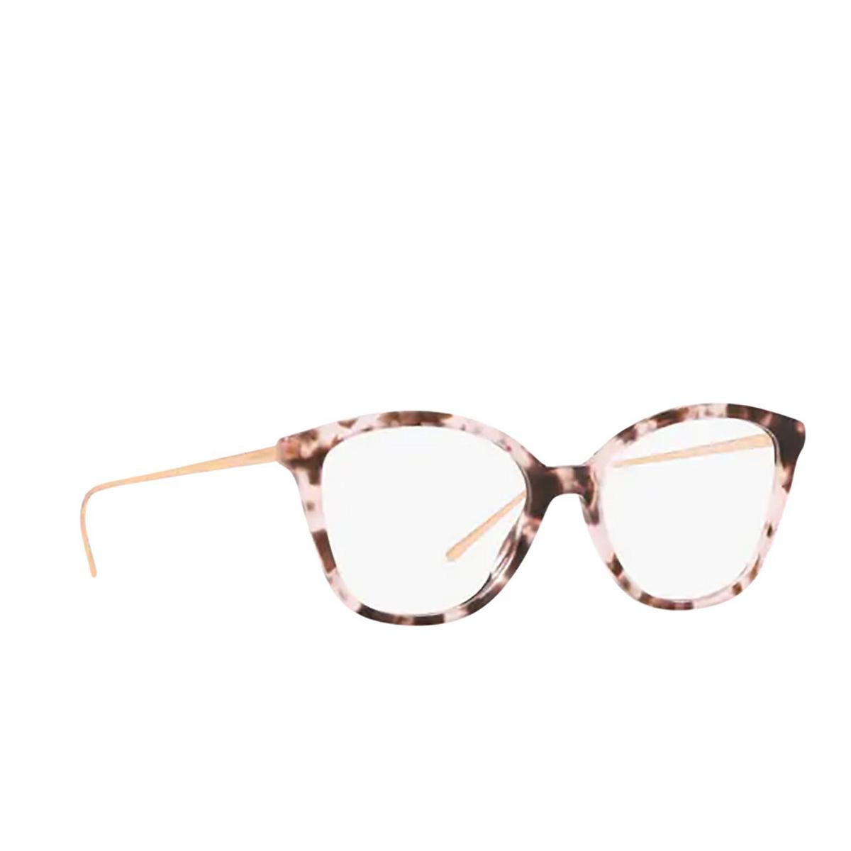 Prada® Square Eyeglasses: PR 11VV color Pink Havana ROJ1O1 - three-quarters view.