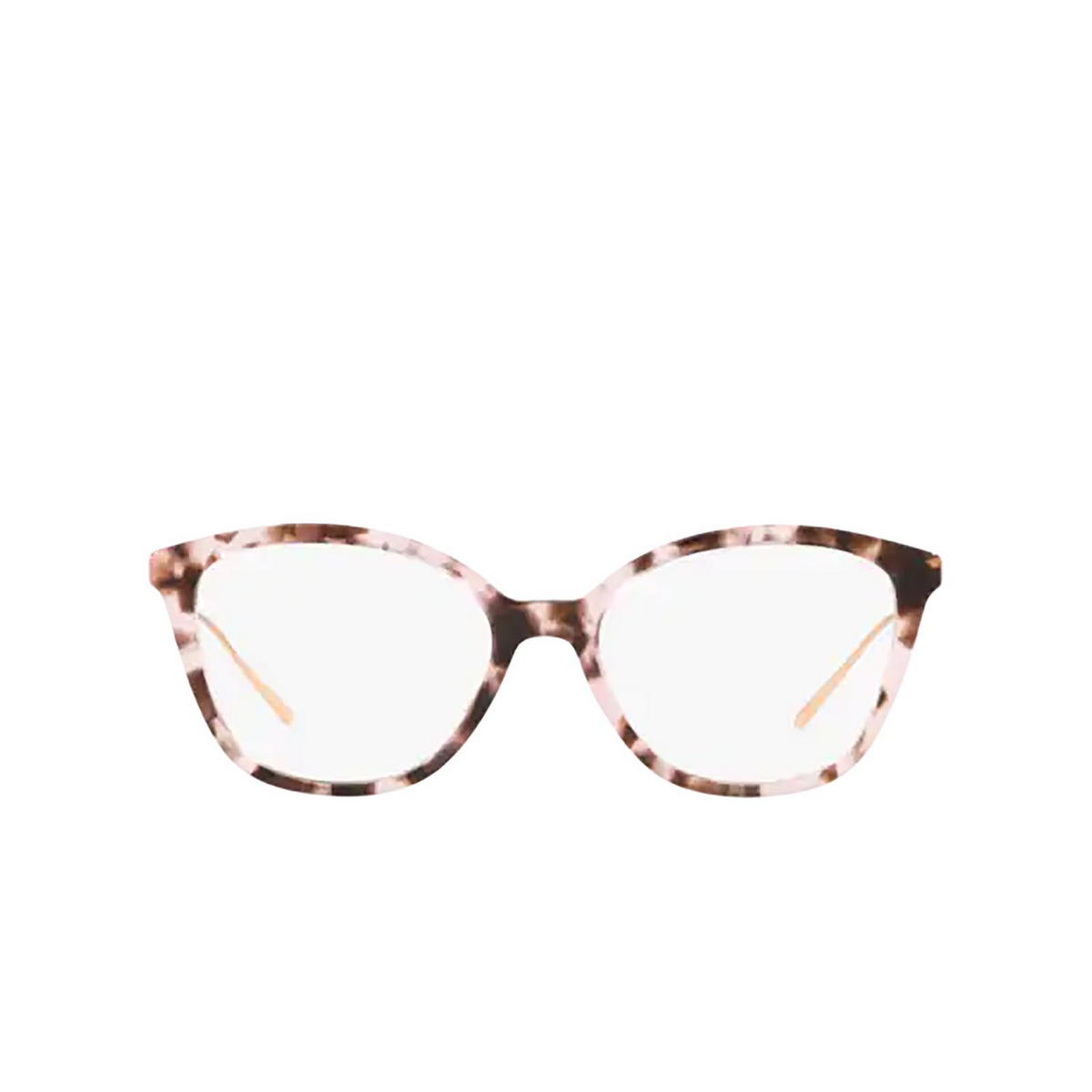 Prada® Square Eyeglasses: PR 11VV color Pink Havana ROJ1O1 - front view.