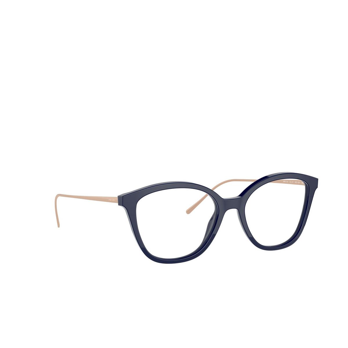 Prada® Square Eyeglasses: PR 11VV color Baltic VY71O1 - three-quarters view.