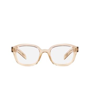 Prada® Square Eyeglasses: PR 11WV color Crystal Amber 01N1O1.