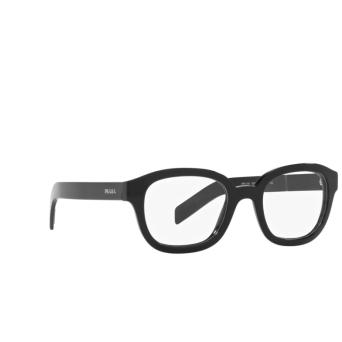Prada® Square Eyeglasses: PR 11WV color Black 1AB1O1.