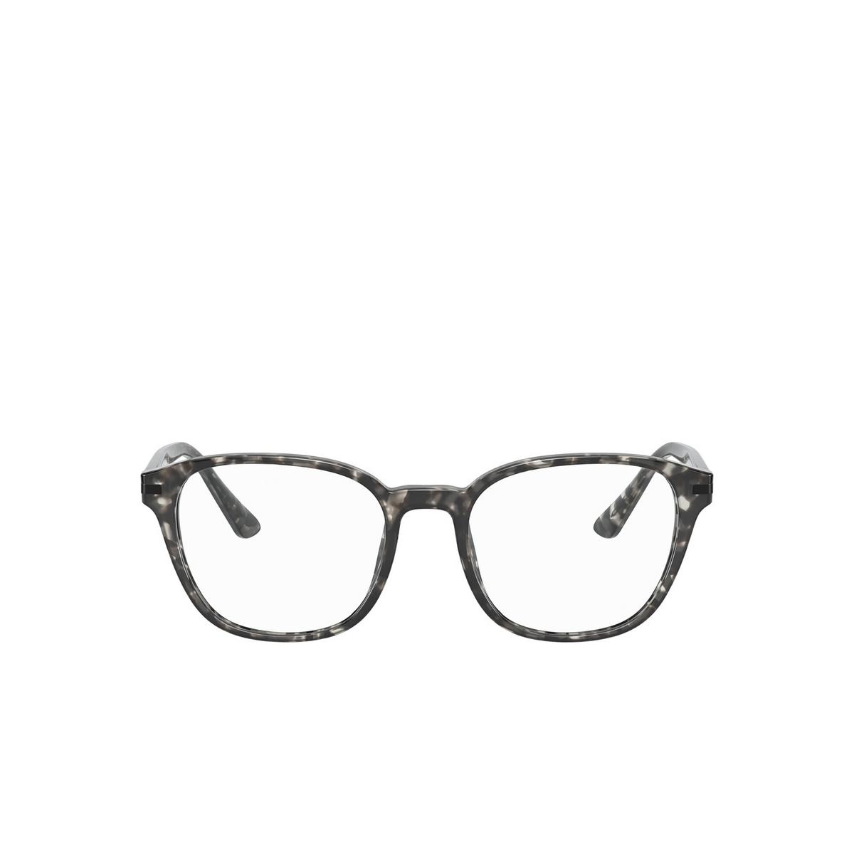 Prada® Square Eyeglasses: PR 12WV color Matte Grey Tortoise VH31O1 - front view.