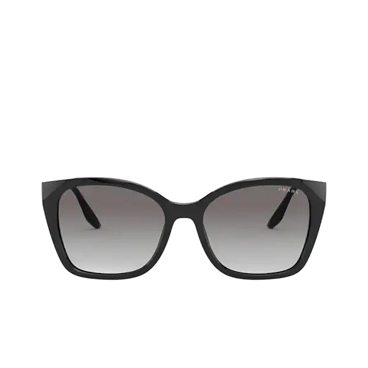 Prada® Cat-eye Sunglasses: PR 12XS color Black 1AB0A7 - front view.