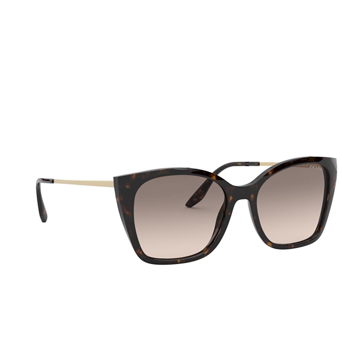 Prada® Cat-eye Sunglasses: PR 12XS color Havana 2AU3D0 - three-quarters view.