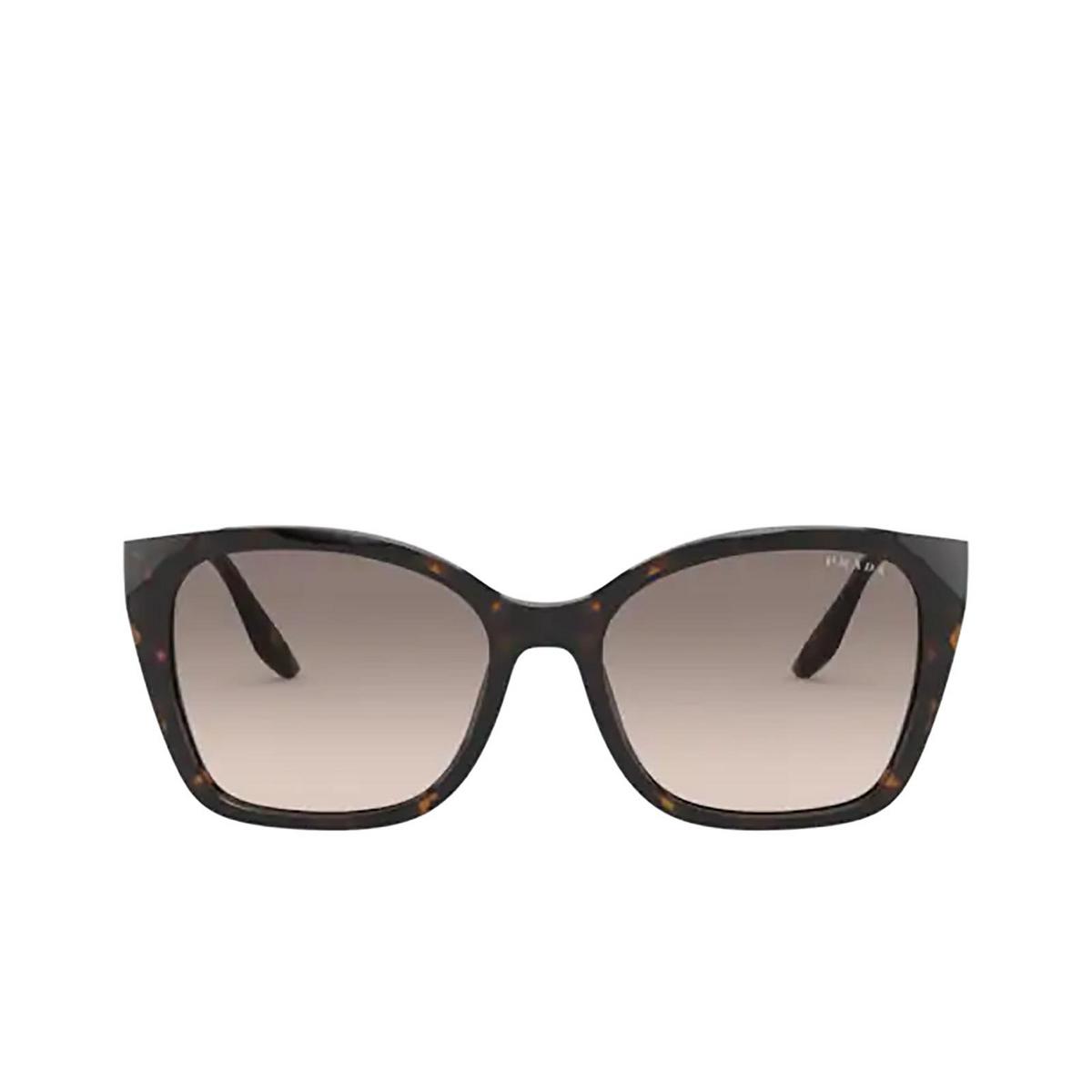 Prada® Cat-eye Sunglasses: PR 12XS color Havana 2AU3D0 - front view.