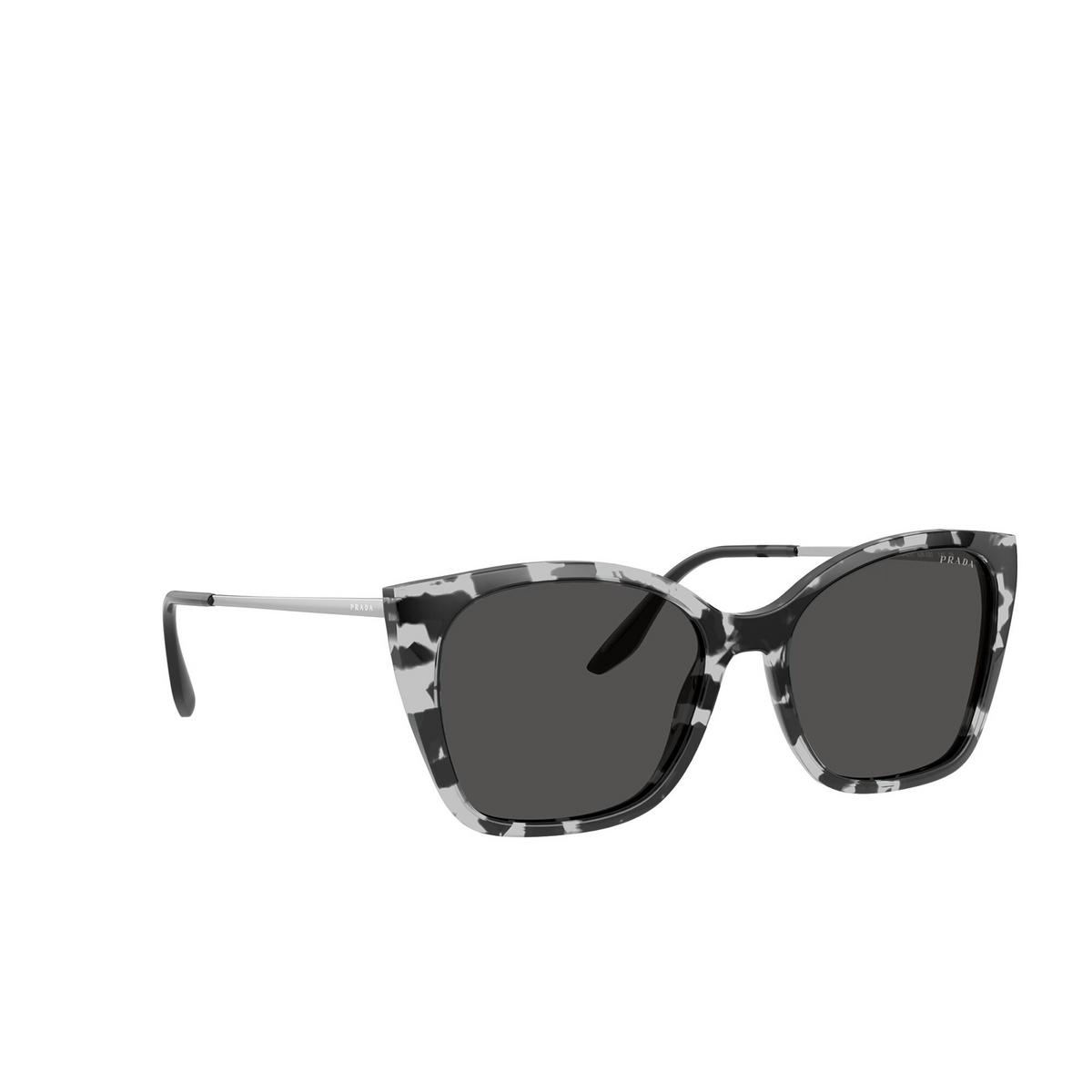 Prada® Cat-eye Sunglasses: PR 12XS color Grey Tortoise 5285S0 - three-quarters view.