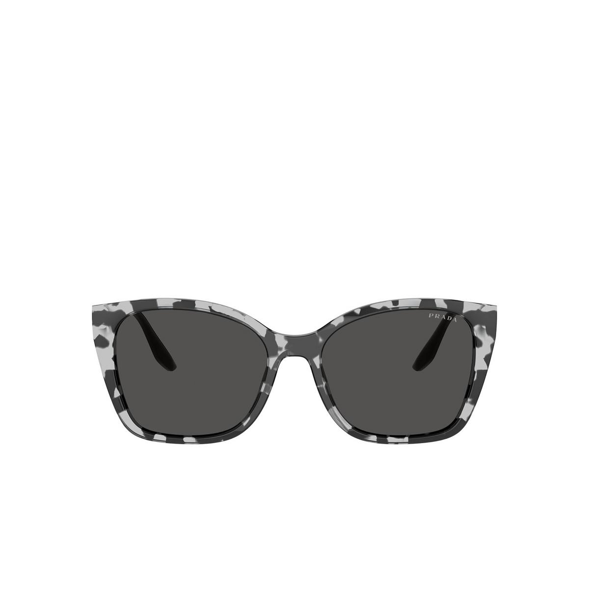 Prada® Cat-eye Sunglasses: PR 12XS color Grey Tortoise 5285S0 - front view.