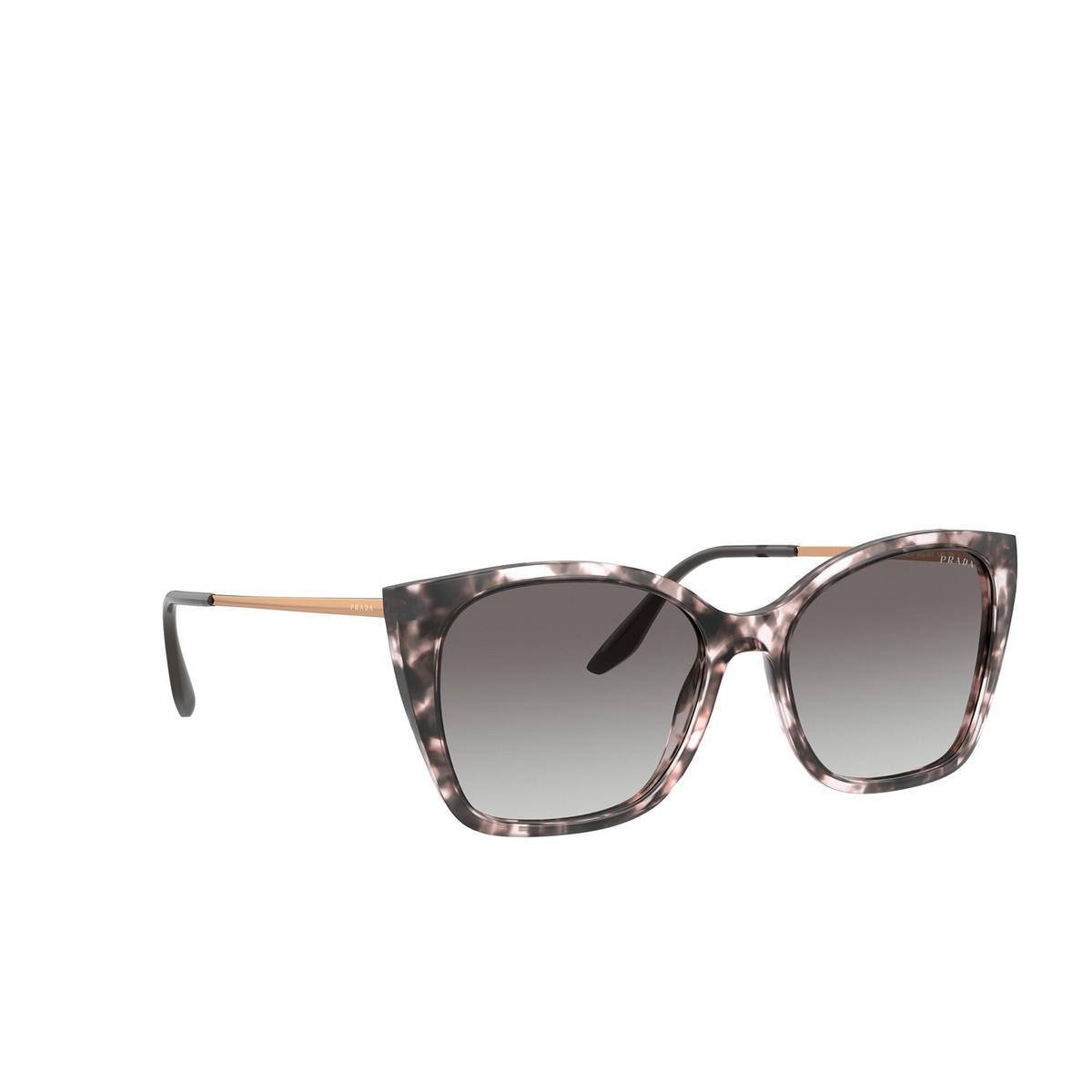 Prada® Cat-eye Sunglasses: PR 12XS color Orchid Tortoise ROJ0A7 - three-quarters view.
