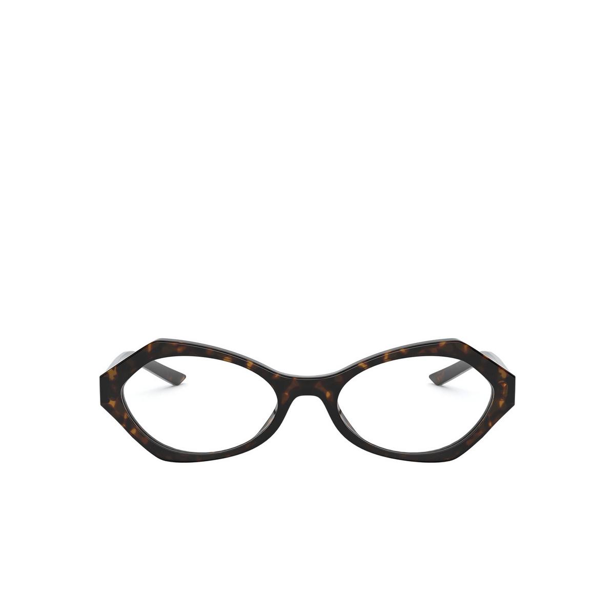 Prada® Irregular Eyeglasses: PR 12XV color Havana 2AU1O1 - front view.