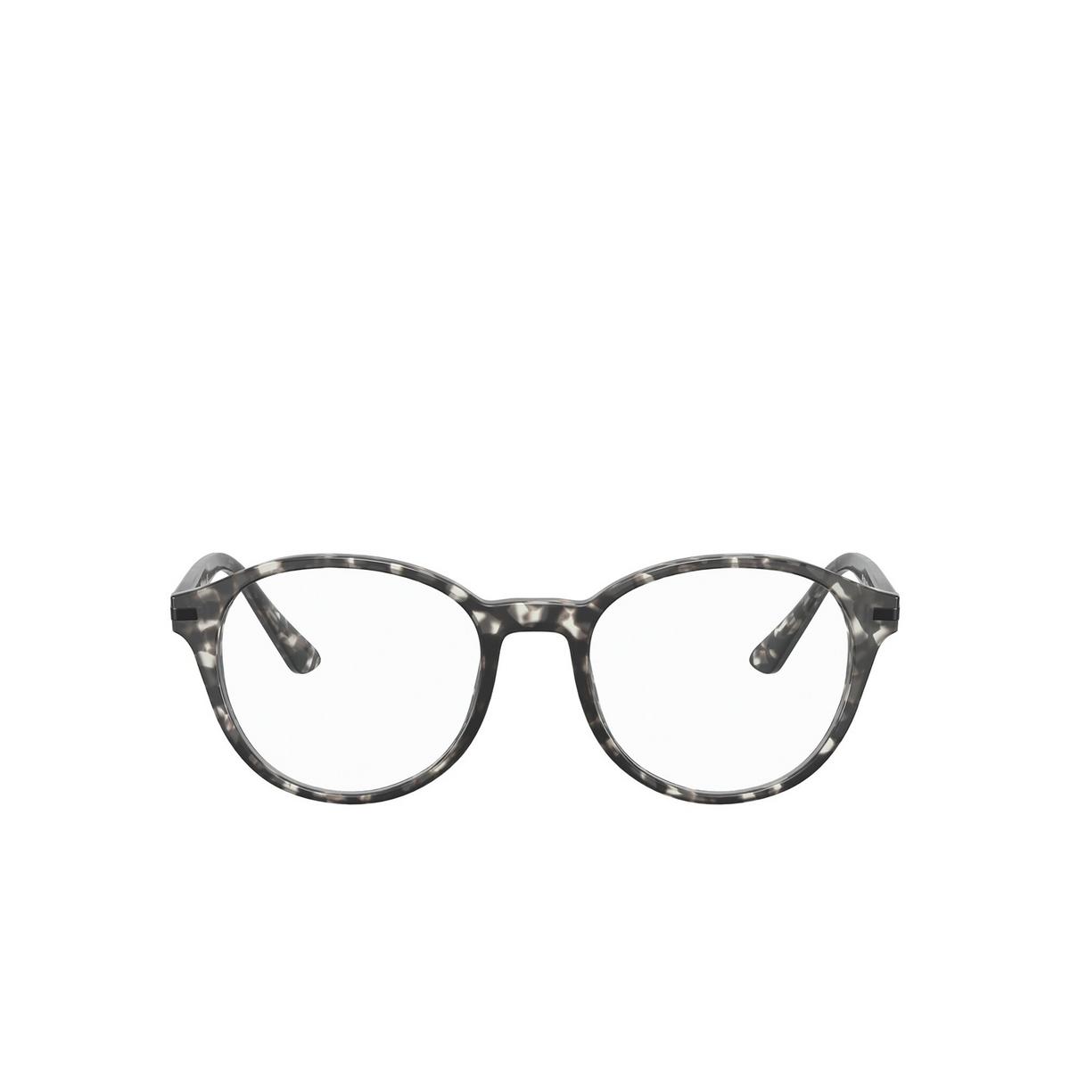 Prada® Round Eyeglasses: PR 13WV color Matte Grey Tortoise VH31O1 - front view.