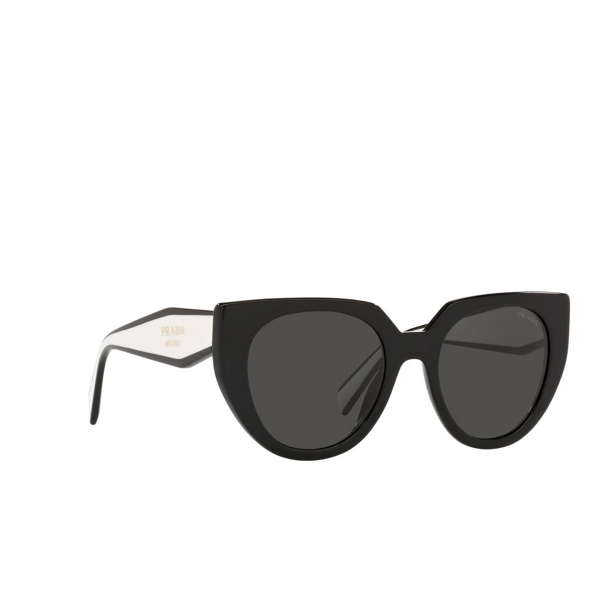 Prada® Cat-eye Sunglasses: PR 14WS color Black / Talc 09Q5S0.