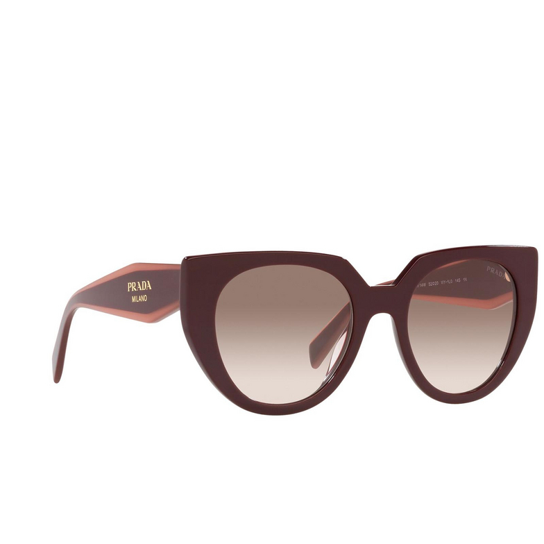 Prada® Cat-eye Sunglasses: PR 14WS color Garnet VIY1L0.
