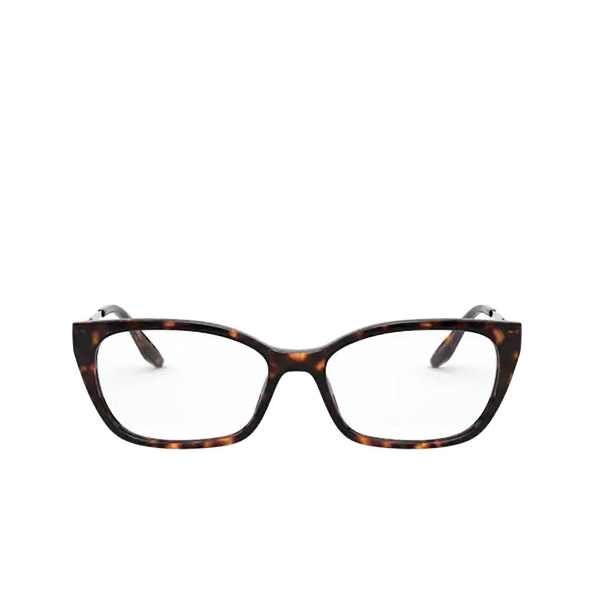 Prada® Cat-eye Eyeglasses: PR 14XV color Havana 2AU1O1.