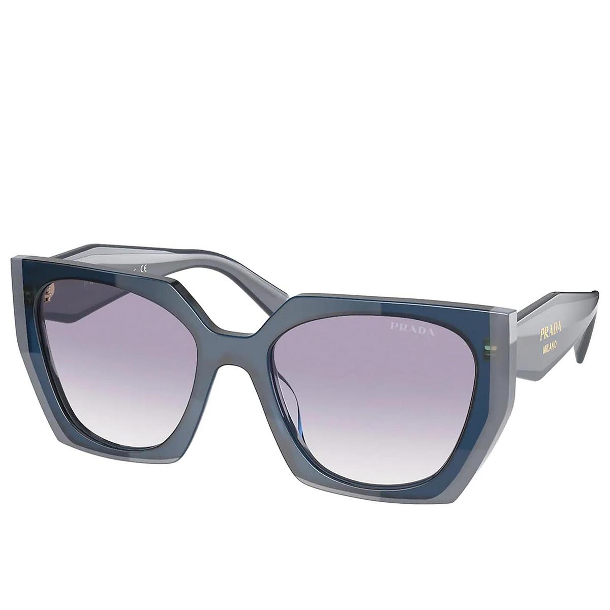 Prada® Square Sunglasses: PR 15WS color Opal Astral 07Q409 - three-quarters view.