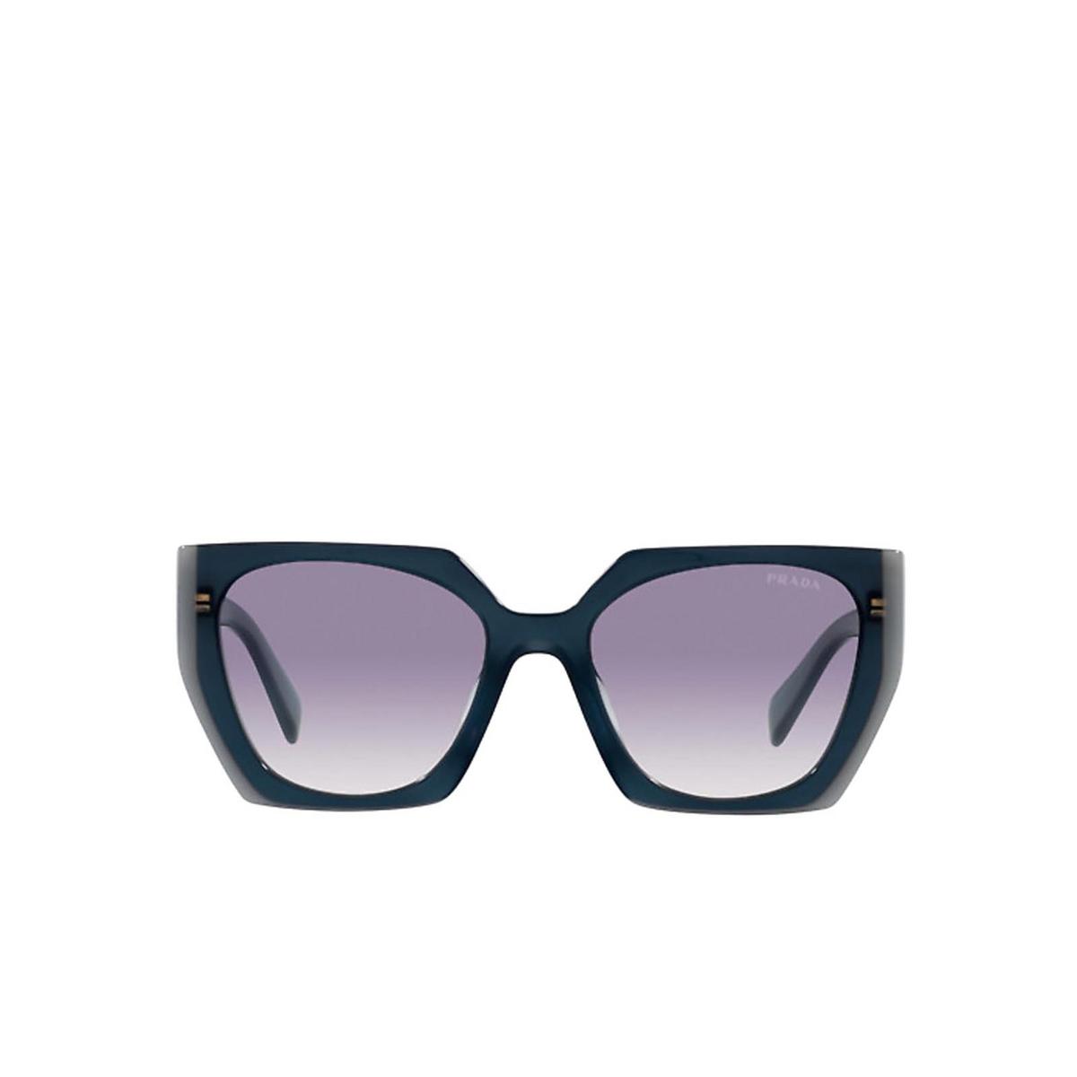 Prada® Square Sunglasses: PR 15WS color Opal Astral 07Q409 - front view.