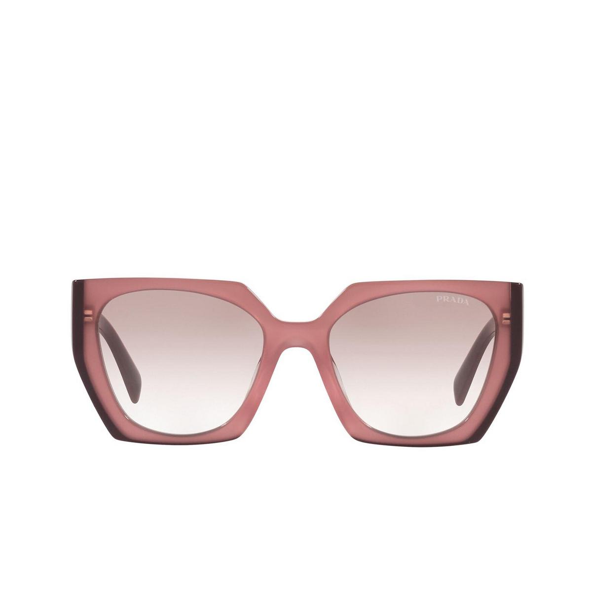 Prada® Square Sunglasses: PR 15WS color Opal Garnet 1221L0 - front view.