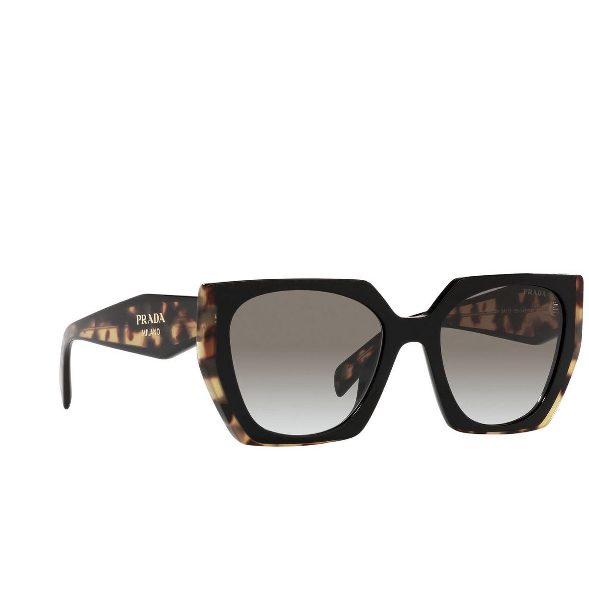 Prada® Rectangle Sunglasses: PR 15WS color Black/ Medium Tortoise 3890A7.