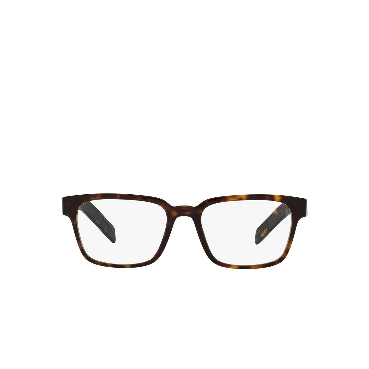 Prada® Rectangle Eyeglasses: PR 15WV color Tortoise 2AU1O1 - front view.