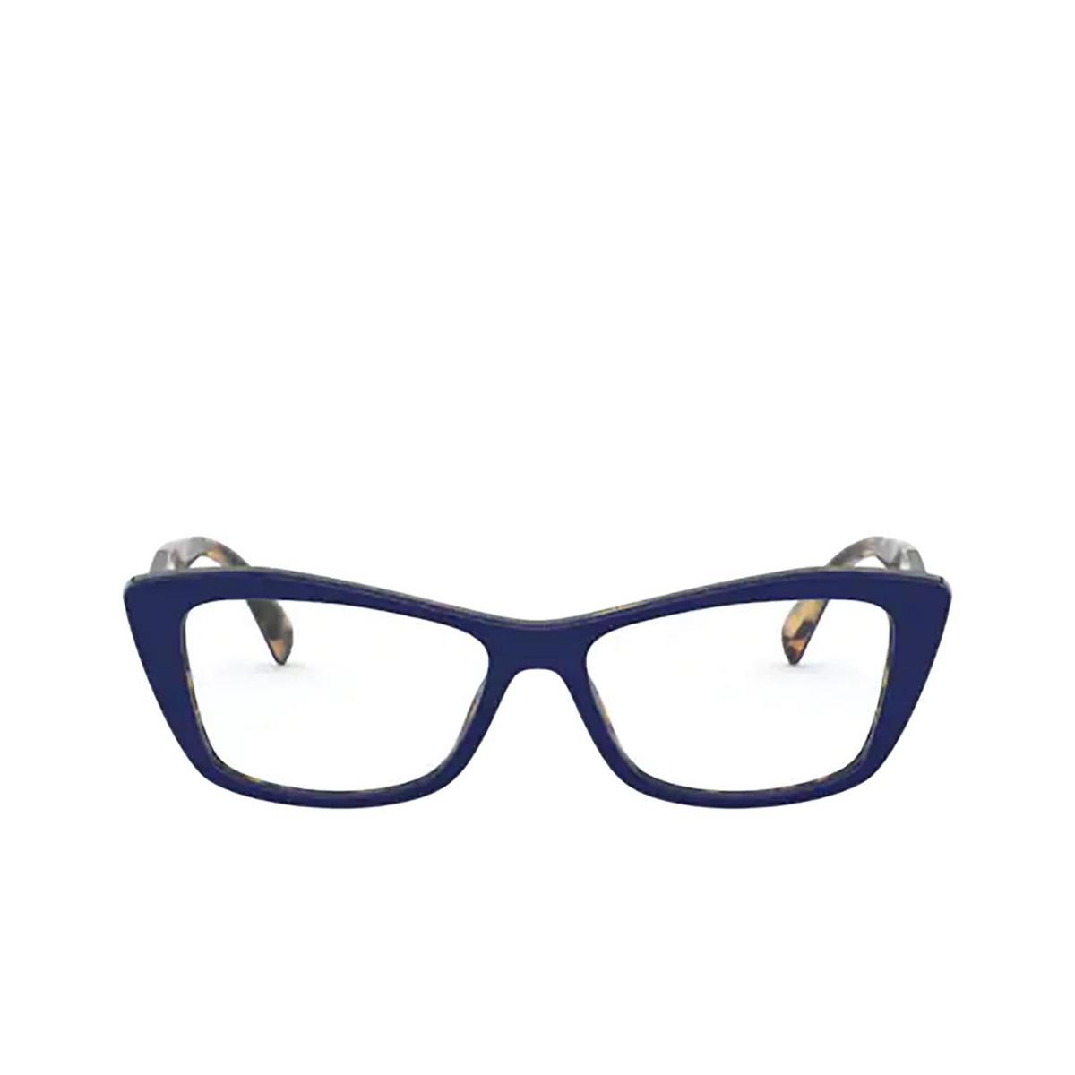 Prada® Cat-eye Eyeglasses: PR 15XV color Blu / Medium Havana 05C1O1.