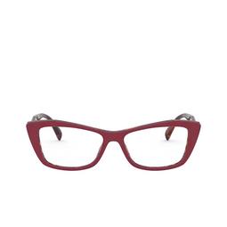 Prada® Eyeglasses: PR 15XV color Red / Havana 07C1O1.