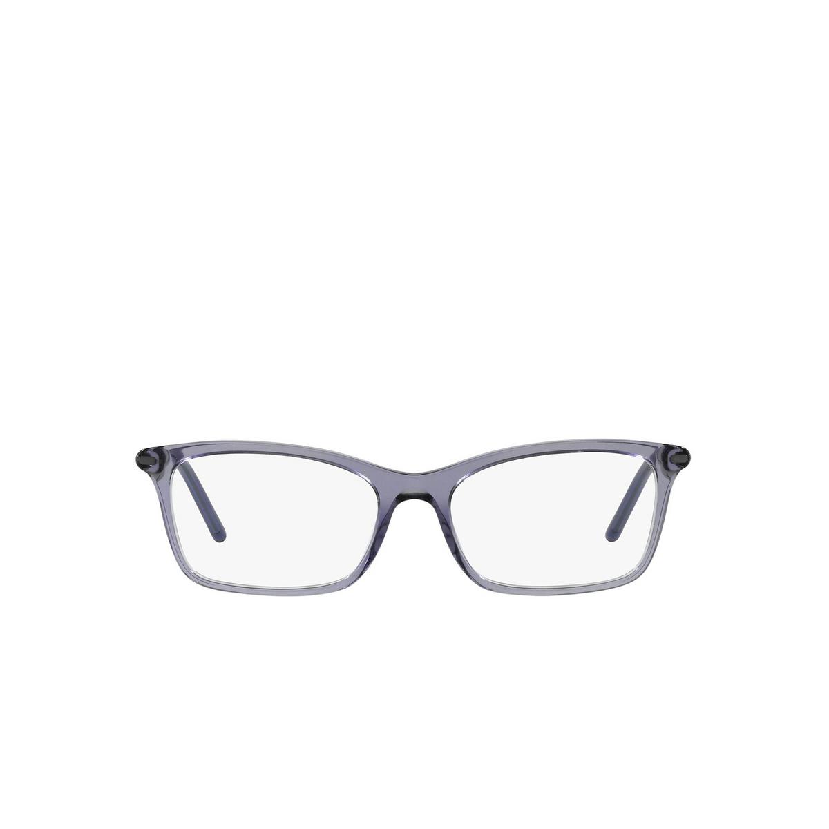 Prada® Rectangle Eyeglasses: PR 16WV color Bluette Crystal 06M1O1 - front view.