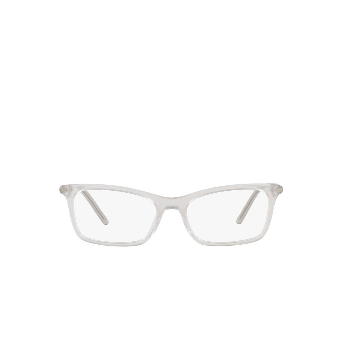 Prada® Rectangle Eyeglasses: PR 16WV color Opal Grey TWH1O1 - front view.