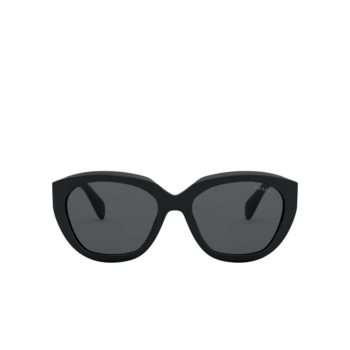 Prada® Butterfly Sunglasses: PR 16XS color Black 1AB5S0 - front view.