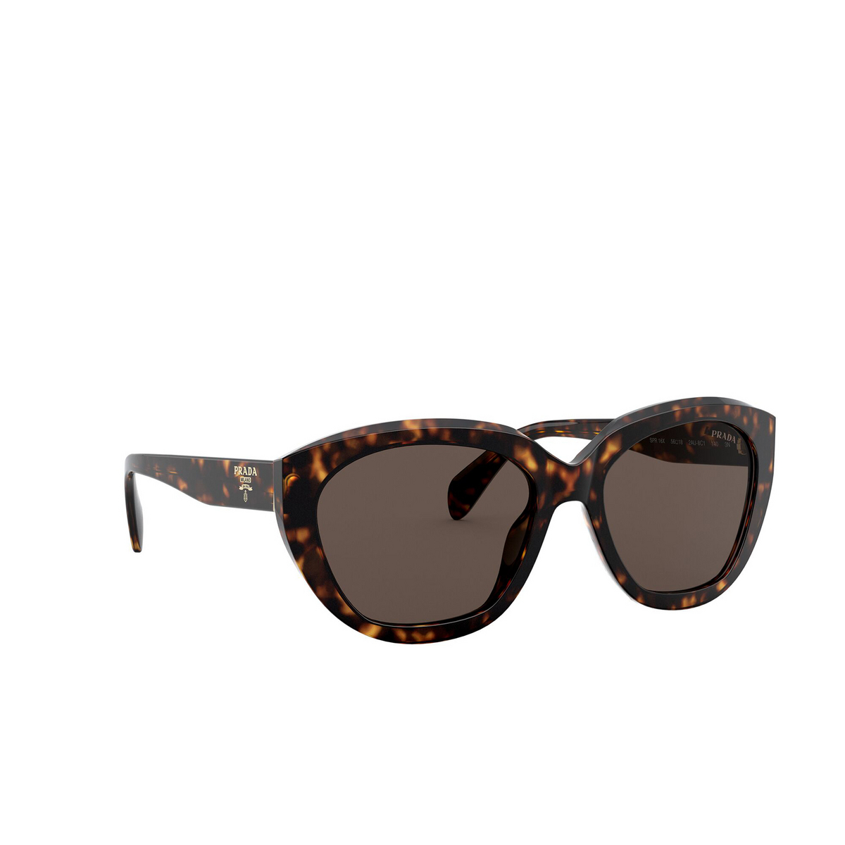 Prada® Butterfly Sunglasses: PR 16XS color Havana 2AU8C1 - three-quarters view.