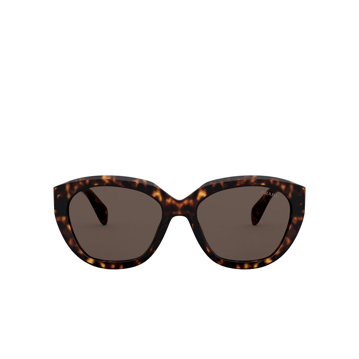 Prada® Butterfly Sunglasses: PR 16XS color Havana 2AU8C1 - front view.