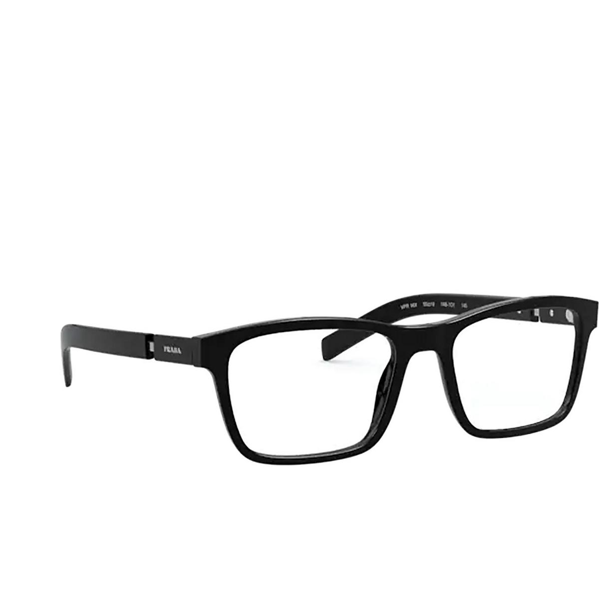 Prada® Rectangle Eyeglasses: PR 16XV color Black 1AB1O1.
