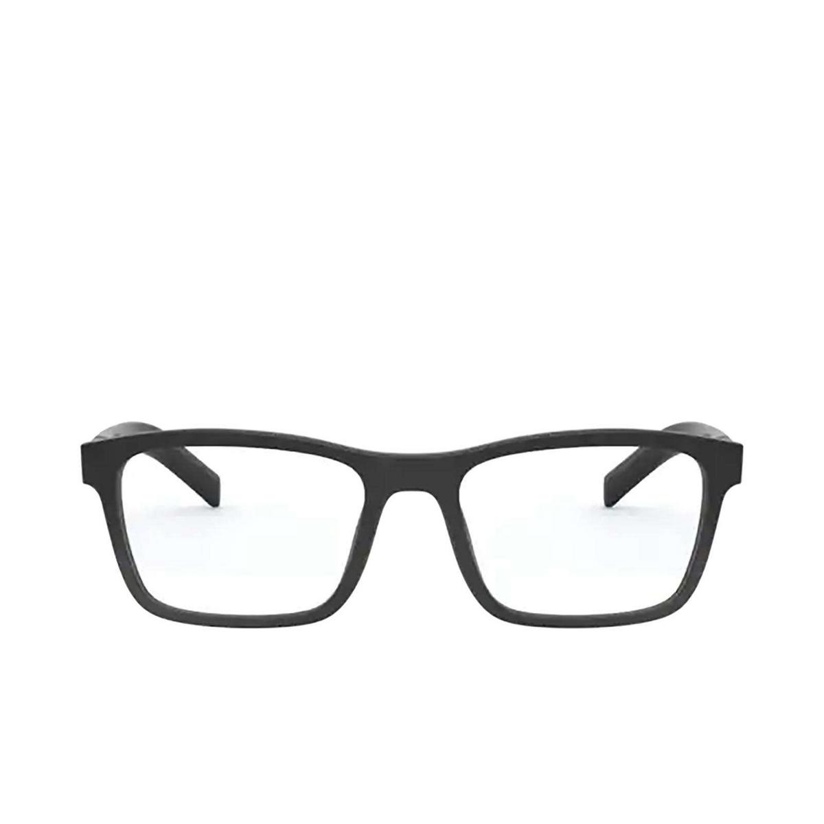 Prada® Rectangle Eyeglasses: PR 16XV color Matte Black 1BO1O1.