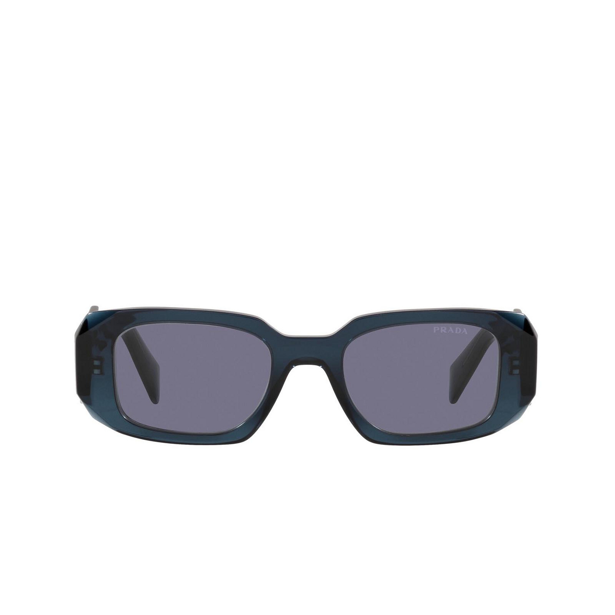 Prada® Rectangle Sunglasses: PR 17WS color Blue Crystal 08Q420 - front view.