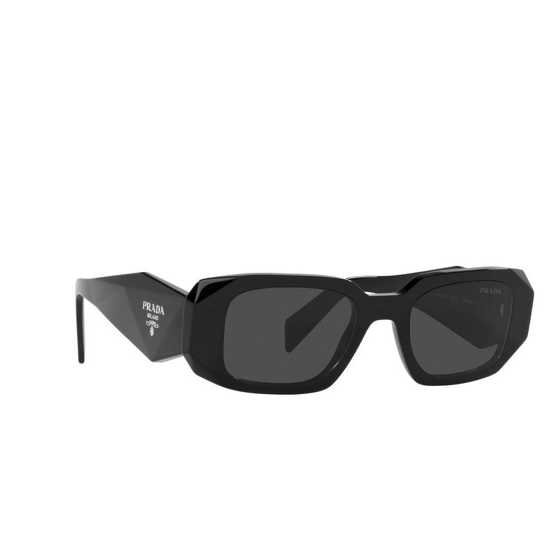 Prada® Rectangle Sunglasses: PR 17WS color Black 1AB5S0.