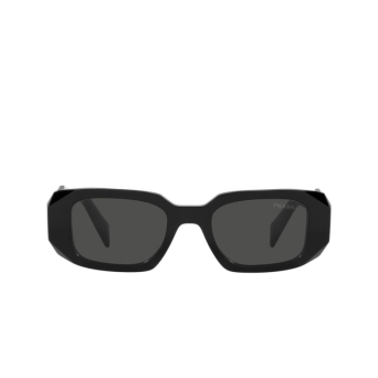 Prada® Rectangle Sunglasses: PR 17WS color Black 1AB5S0.