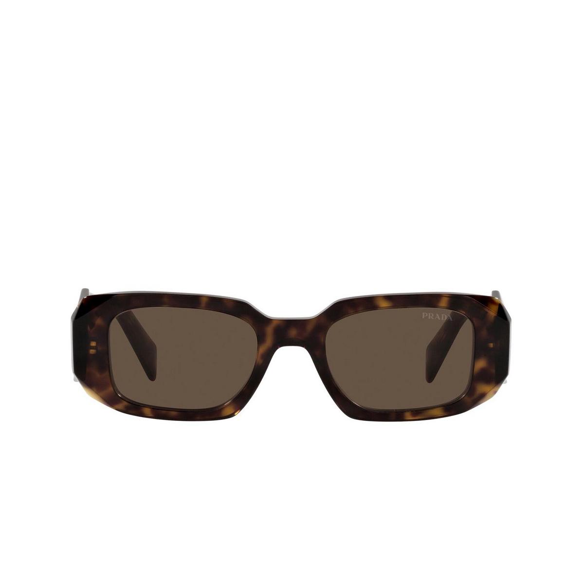Prada® Rectangle Sunglasses: PR 17WS color Tortoise 2AU8C1.