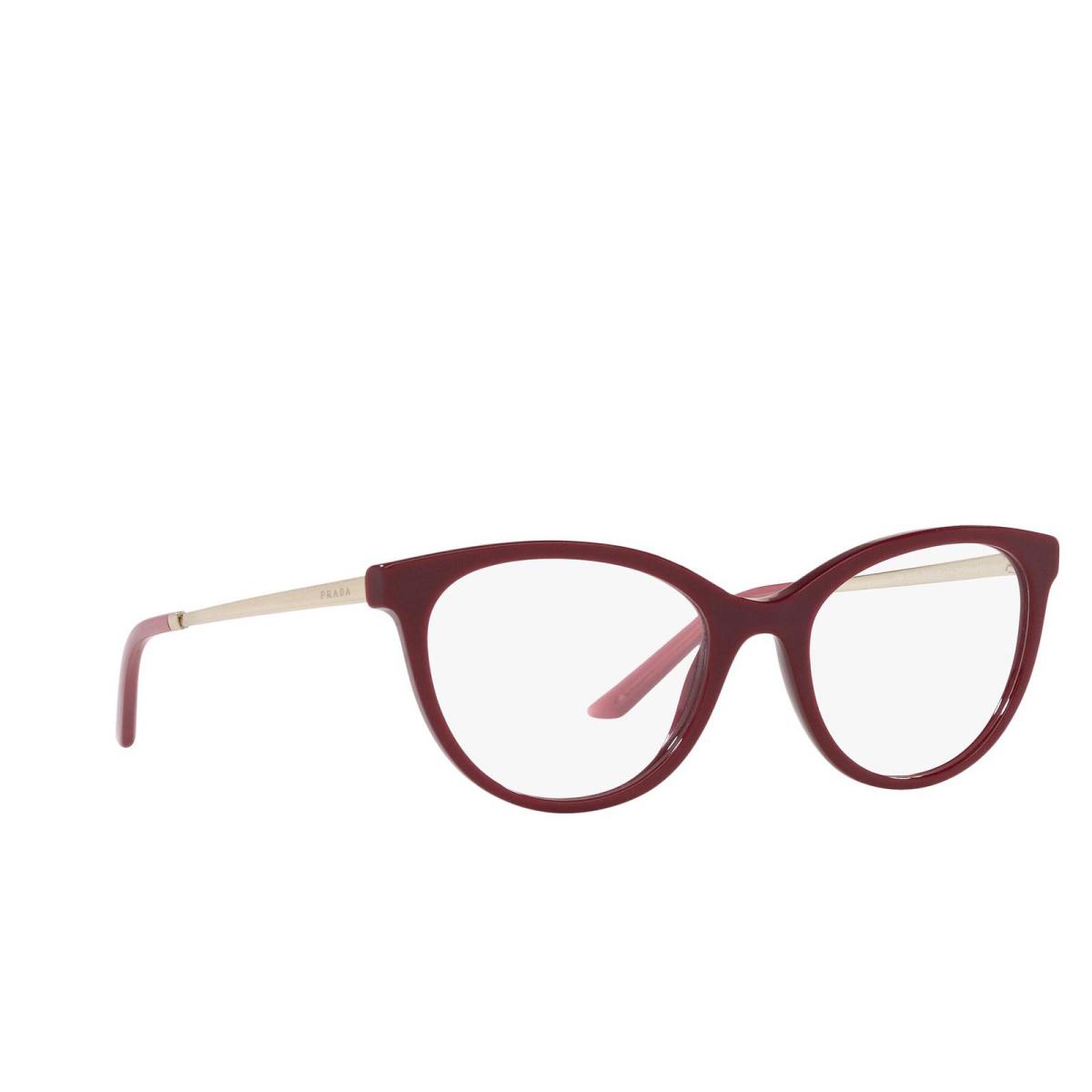 Prada® Cat-eye Eyeglasses: PR 17WV color Bordeaux TY71O1.