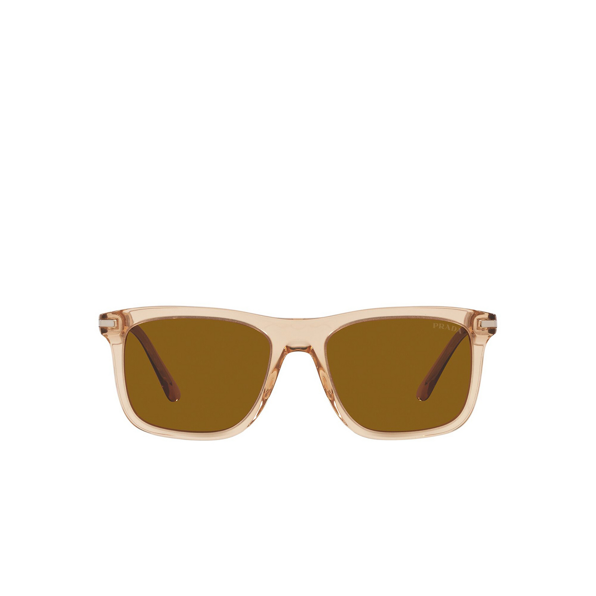 Prada® Rectangle Sunglasses: PR 18WS color Amber Crystal 01N05M - front view.