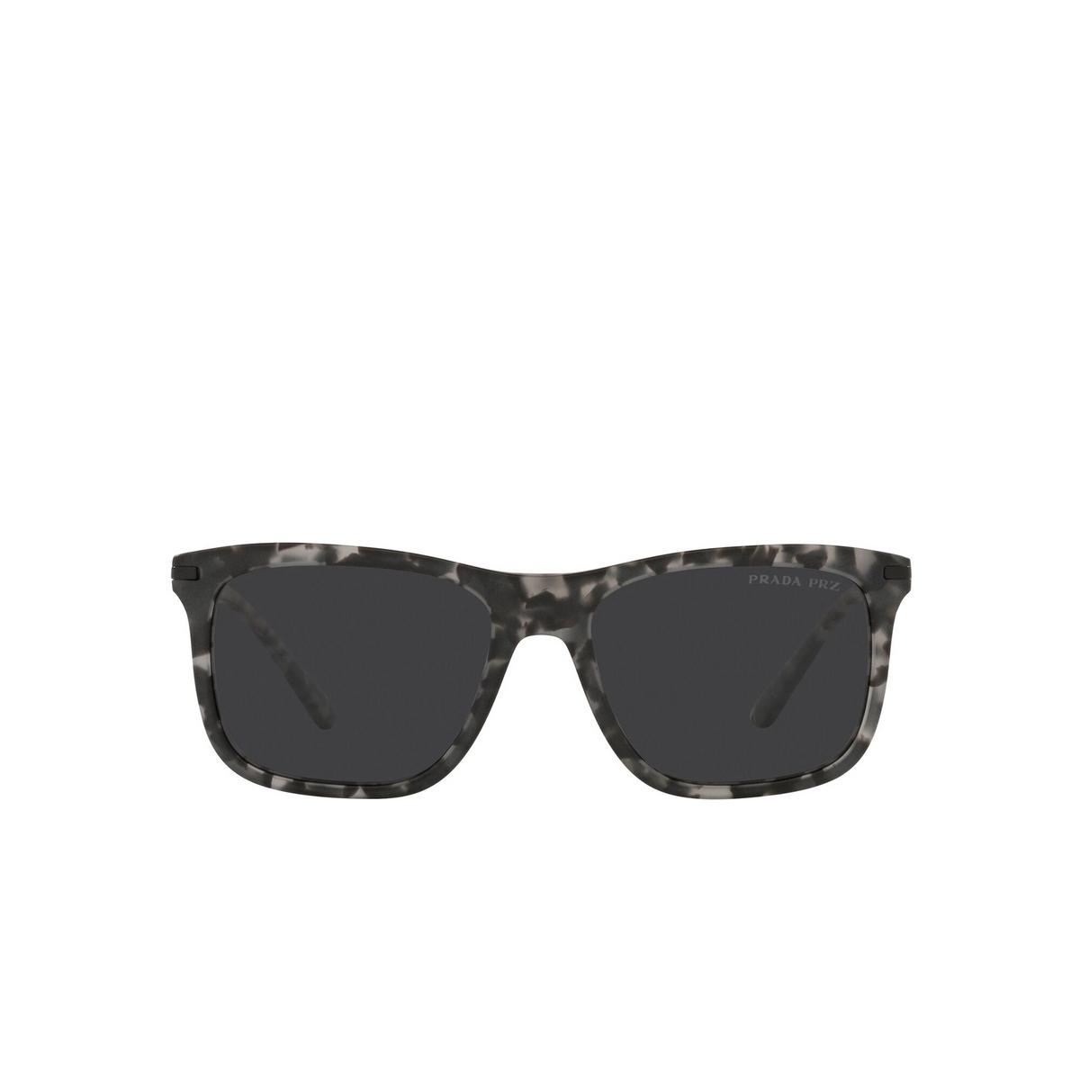 Prada® Rectangle Sunglasses: PR 18WS color Matte Dark Grey Tortoise VH308G - front view.